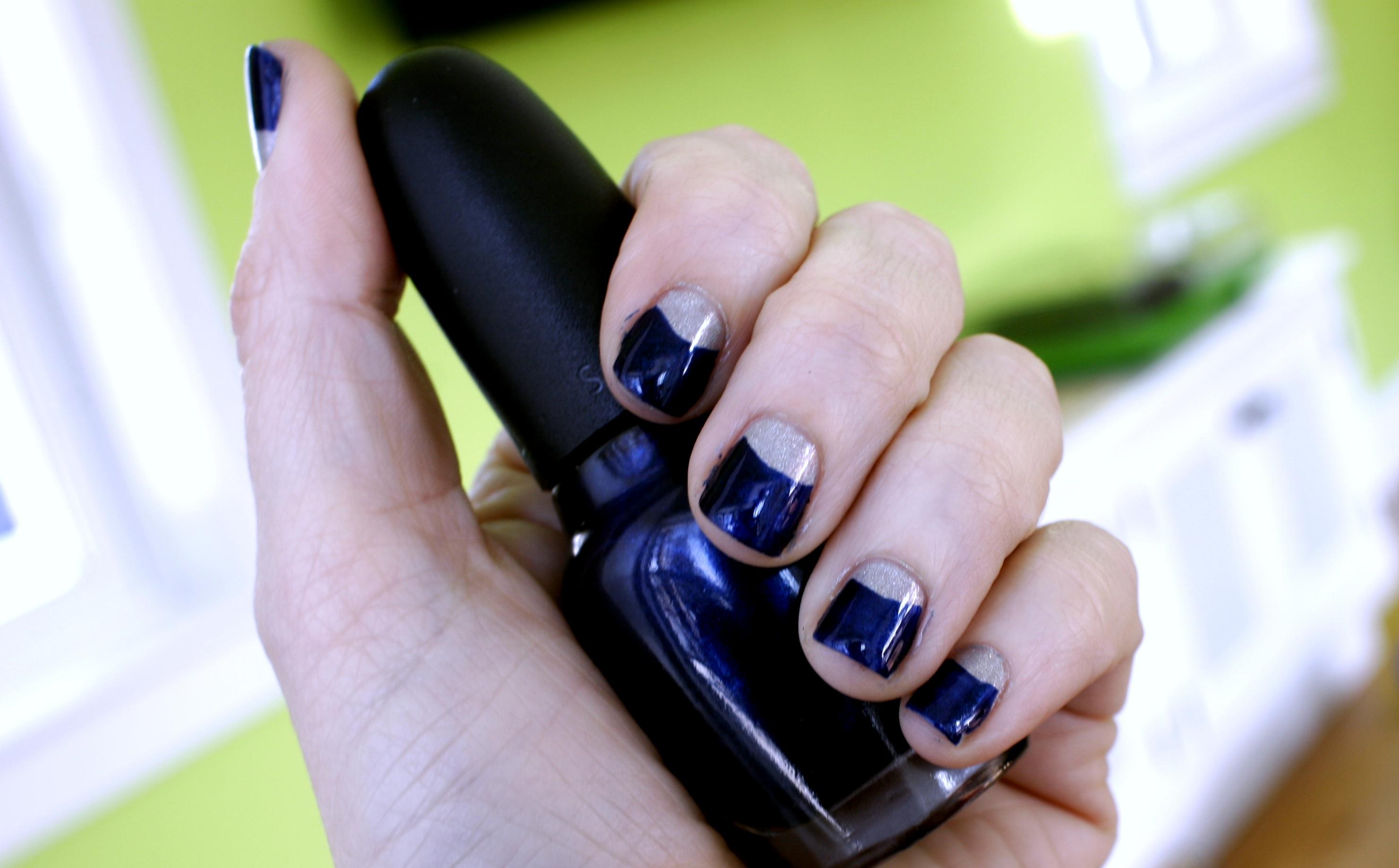 blue halfmoon manicure siouxsie law
