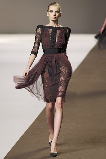 Elie Saab Fall/Winter 2010 — Attack of the Black Dress  Siouxsie Law